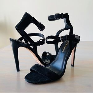 Rebecca Minkoff Black Rosalie Ankle Strap Heels 7